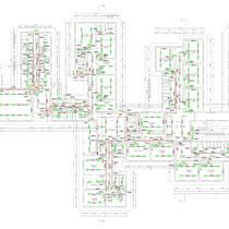 Scuola Media G. Pardo di Castelvetrano - Piano terra - Impianto illuminazione