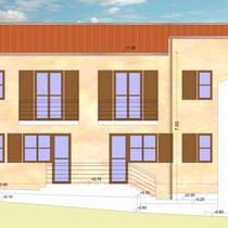 Contratto di Quartiere II San Cataldo - Recupero edilizio - Prospetto fabbricato 1