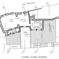 Corpi annessi al Palazzo Sgadari di Gangi - Pianta 2° piano