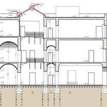 Palazzo Municipale di Santa Caterina Vill.sa - Sezione trasversale