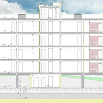 Contratto di Quartiere II San Cataldo - Alloggi nuova costruzione - Sezione