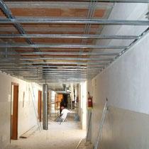 Scuola Media E. Medi di Castelvetrano - Realizzazione controsoffitti per passaggio impianti