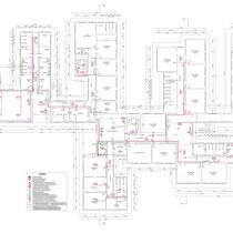 Scuola Media G. Pardo di Castelvetrano - Piano terra - Impianto segalazioni e allarmi