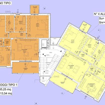 Contratto di Quartiere II San Cataldo - Alloggi nuova costruzione - Pianta alloggi tipo
