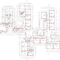 Scuola Media G. Pardo di Castelvetrano - Piano terra - impianto forza elettromotrice