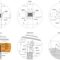 Museo Etnografico e Archeologico di Marianopoli - Particolari esecutivi nodi strutturali