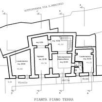 Corpi annessi al Palazzo Sgadari di Gangi - Pianta piano terra