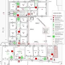 Palazzo Municipale Sant' Angelo di Brolo - 2° Piano - Planimetria impianto antincendio