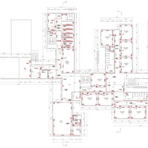 Scuola Media G. Pardo di Castelvetrano - 1° piano - impianto forza elettromotrice