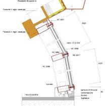 Museo Etnografico e Archeologico di Marianopoli - Particolare costruttivo vetrata strutturale