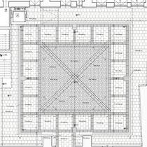 Palazzo Municipale Sant' Angelo di Brolo - Chiostro - Planimetria pavimentazione