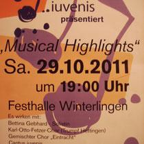 Plakat zum Konzert
