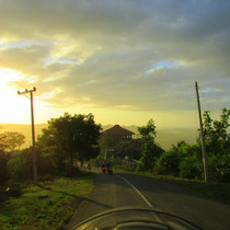 landscapes, sunset, authentic roads, balinese countryside