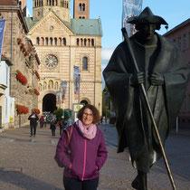 Ein Jakobspilger macht Station in Speyer