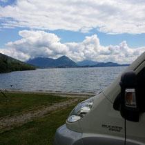 so stehen wir am Lago Maggiore