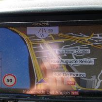 """Auf dem """"Boulevard des Anglais"""" in Nizza"""