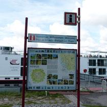die Anlegestelle in Breisach