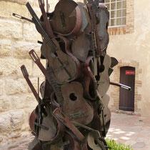 im Innenhof des Picasso Museums