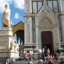 "Statue des ""Dante Aligieri"""