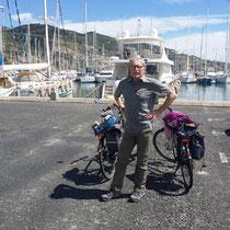 im Hafen von Santo Stephano al Mare