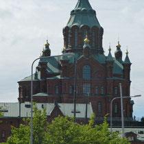 die Upenski-Kathedrale, auf einem Felsen gebaut