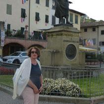 """Statue des """"Giovanni da Verrazzano"""". Er  entdeckte einst die Bucht von New York."""