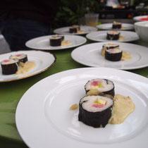 Sushi hanseatisch mit Matjes