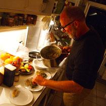 den letzten Gang des Abends darf Michel zubereiten