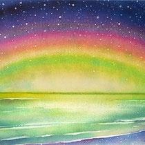 夜の虹 (水彩・2009制作)