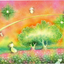 祝福の朝  (水彩・2010制作)
