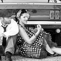 Balade en Ford Mustang et shooting photo pour elle et lui (vue1) en Normandie