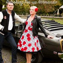 Balade en Ford Mustang et shooting photo pour elle et lui (vue2) en Normandie