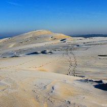 Dune du Pilat couvert de givre
