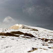 La neve sulla Dune du Pilat