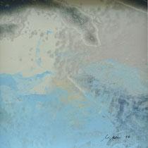 «Himmel 1», 20x20 cm, Mischtechnik auf Papier, eingerahmt: Foto/Digitale Collage/Acryl&Tusch | VERKAUFT