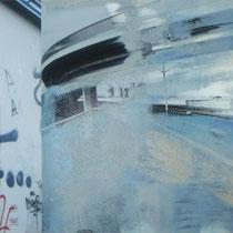 «Mannheim 1», 30x90 cm, Mischtechnik auf Forexplatte: Foto/Digitale Collage/Acryl&Tusch | VERKAUFT