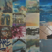 «Rimini», 100x100 cm, «Mannheim 1», 30x90 cm, Mischtechnik auf Forexplatte: Foto/Digitale Collage/Acryl&Tusch | VERKAUFT