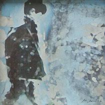 «Amsterdam 1», 20x20 cm, Mischtechnik auf Papier, eingerahmt: Foto/Digitale Collage/Acryl&Tusch | VERKAUFT
