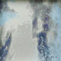 «Himmel 2», 20x20 cm, Mischtechnik auf Papier, eingerahmt: Foto/Digitale Collage/Acryl&Tusch | VERKAUFT