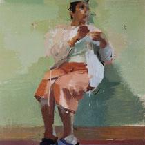 Mujer sentada. 100x80 cm.