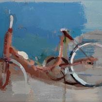 La bicicleta. 60x90 cm.