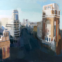 Madrid desde Callao. 120x120 cm.