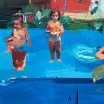 La piscina. 122x244 cm.