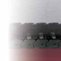 Detalle de mosquitera puerta lateral (tela y carro deslizamiento)