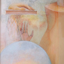 Oath (oil, tempera on canvas 120x64cm) NFS