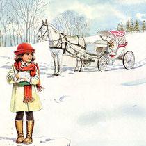メルヘン 雪道の馬車