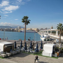 De haven van Malaga