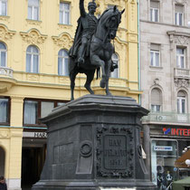 Zagreb standbeeld veldheer jélacic