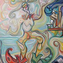 El cazador de pulgas / Óleo sobre lienzo / 65 x 45 cm / 2008