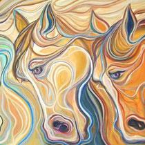 Caballos / Óleo sobre lienzo / 65 x 120 cm / 2010 / Vendido